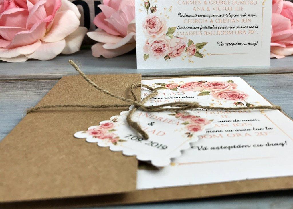 Invitatie Nunta Vintage Roses
