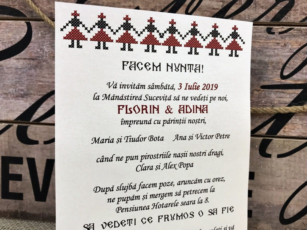 Invitatie Traditionala Model Craft